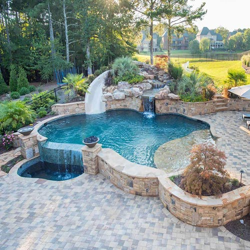 Inground swimming pool builder houston 1 custom pool - Custom above ground pool ...