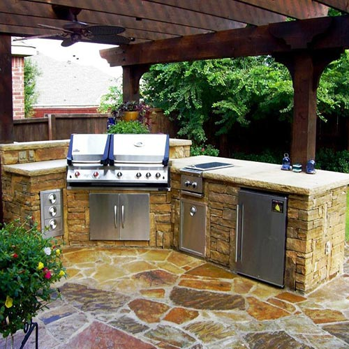 Outdoor-Kitchen with side burner houston