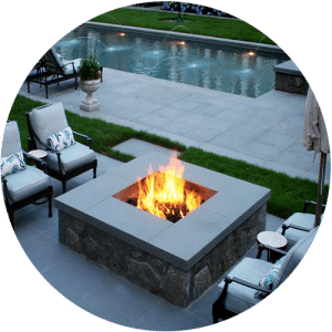 outdoor-gas-fire pit built in houston